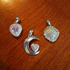 Set of 3 pendants for necklace or bracelet