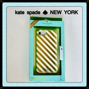 Kate Spade ♠️ iPhone Case NEW Gold Stripe 7 6 6s