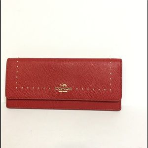 Pebbled Leather Coach Wallet