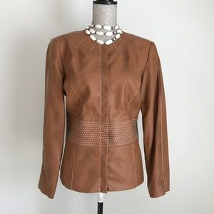Chicos Faux Leather Jacket