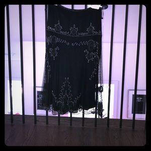 Black beaded skirt
