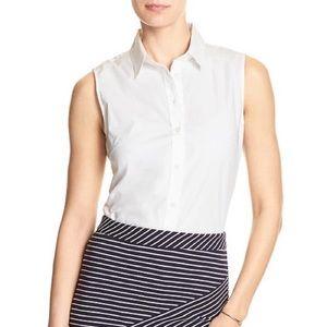 BR Sleeveless Poplin Tailored Shirt