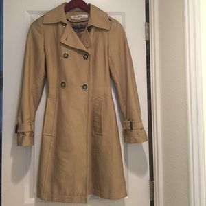 Kenneth Cole New York camel trench coat
