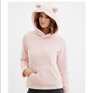 Plush Baby Pink Hoodie
