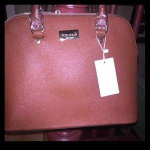 BNWT Kate Spade leather brown lg. Bag