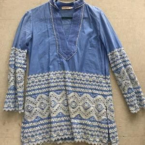 Tory Burch Tops - Tory burch embroidered tunic