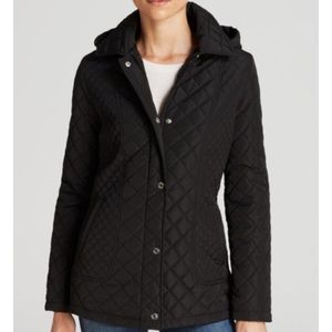 NEW Calvin Klein Quilted Snap Close Hooded Jacket