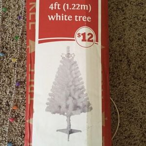 "White 4"" Christmas tree"