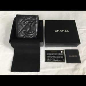 Chanel Classic Quilted Lambskin Black Wallet
