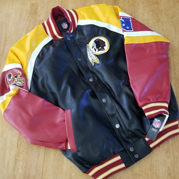 premium selection 96908 730ab REDSKINS BOMBER JACKET NFL TEAM APPAREL NWT