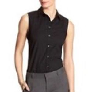 BR Sleeveless Tailored Black top