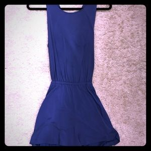 Blue Romper with Cut Out on Back