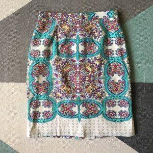 Anthropologie Maeve printed pencil skirt
