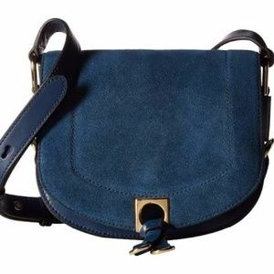Ivanka Trump Claudia leather suede saddle bag