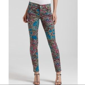 7 For All ManKind Garden Party Floral Skinny Jeans