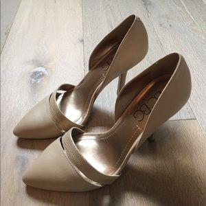 Worn twice! Bcbg nude heels