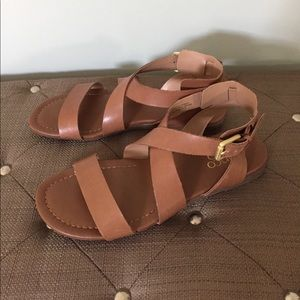 Franco Sarto Leather Sandals Size 6.5
