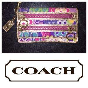 Coach Poppy OP Art Wristlet Wallet RARE!