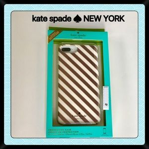 Kate Spade ♠️ iPhone Case Rose Gold NEW 7 Plus 6