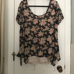 Wallpapher (Nordstrom) Flowy Floral Top
