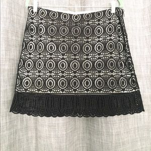 Club Monaco lace mini skirt