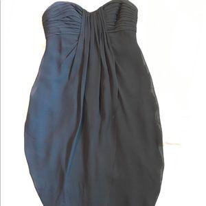 BCBGMaxazria black silk cocktail dress 0