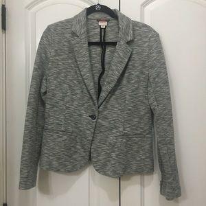 Heathered Gray Cotton Blazer