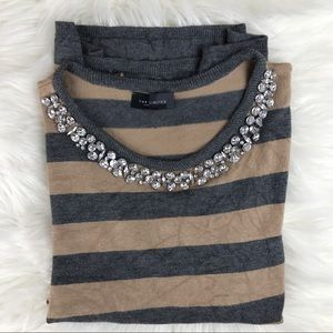 The Limited Jeweled Neck Shirt