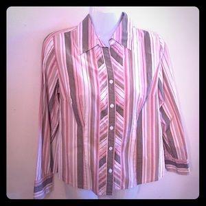 Ann Taylor LOFT Petites.Striped Top. Size 8P