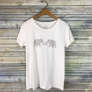 J. Crew Kissing Elephants Collector T-Shirt