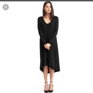 Gap Women's Black Long Sleeve Swing Dress Size M