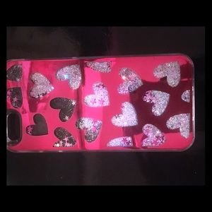 iPhone 6s Glitter and Heart phone case