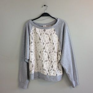 UO Pins And Needles Dolman Pullover Sweater