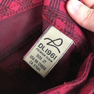 DL1961 Jeans - DL1961 Hipster Emma Bedford Plaid Legging Jeans