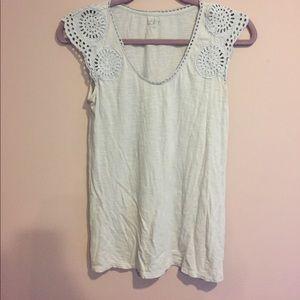 Ann Taylor Loft Lace detail shirt
