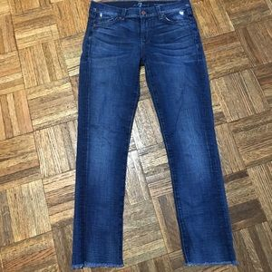 7 For All Mankind Roxanne Distressed Jeans Size 27