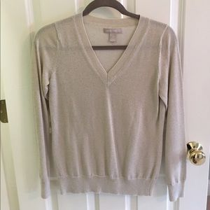 Banana Republic Gold Sparkly Sweater! Size Small