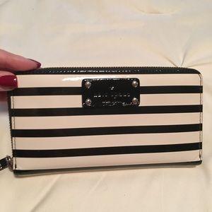 Kate Spade Patent Striped Zippy Wallet
