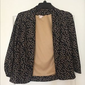 Women's Size XS Midnight Blue and Nude Blazer