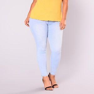 Fashion Nova Plus Skinny Jeans