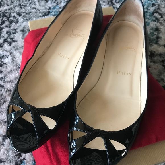 12226c303cd3 Christian Louboutin Shoes - Christian Louboutin Teresa black flats sz 38.5