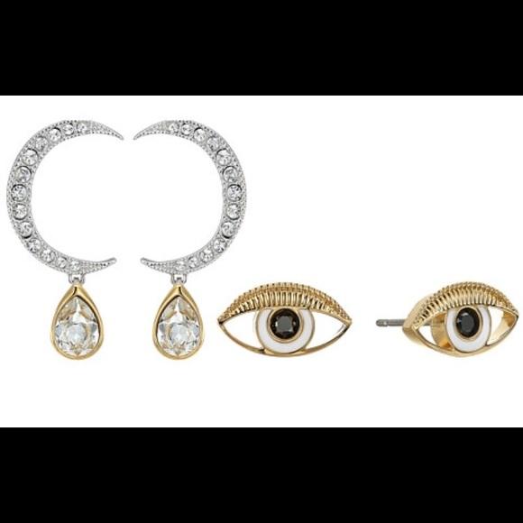 6c2b66d51 Swarovski Jewelry   Duo Earrings Moon Eyes   Poshmark