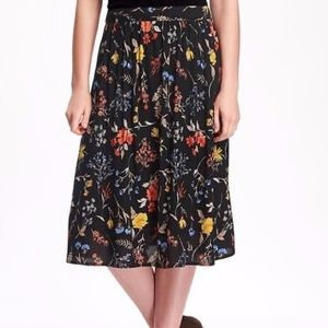 Old Navy Floral Midi Skirt