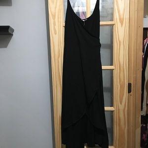 Black Cami Wrap Dress from Gap