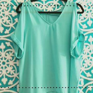 LUSH cold shoulder blouse