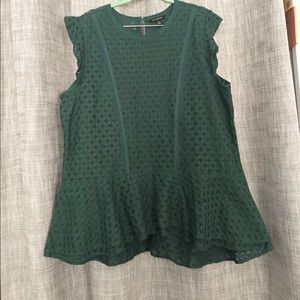 Banana Republic lace peplum tunic