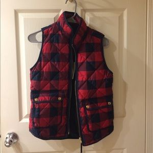 Womens J. Crew Plaid Vest