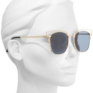 Nordstrom 55mm Metal Wire Sunglasses