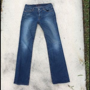 7 For All Mankind retro blue jeans Japanese Denim