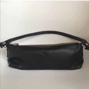 Kate Spade black leather baguette bag